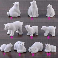 Ins Polar Bear Container Miniature Fairy Garden Resin Succulent Mini Plants Model Decorations Original Present Accessories