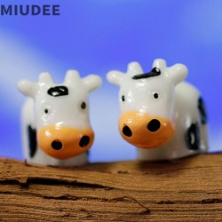 Miudee Moss Succulent Glass Accessories Container Miniature Fairy Garden Cow Doll Diy Terrarium Kit Resin Accessories